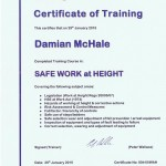 Safe work at height Training